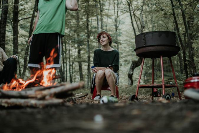 people enjoying summer camping