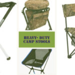 four heavy duty camp stools