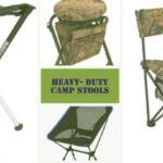 four heavy duty camp stools
